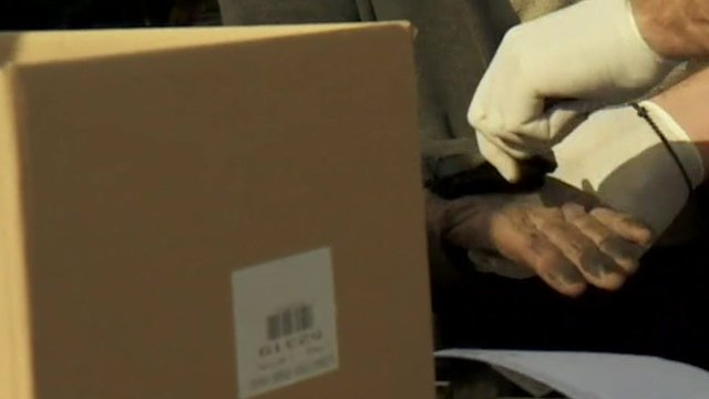 Fingerprints being taken on Leros