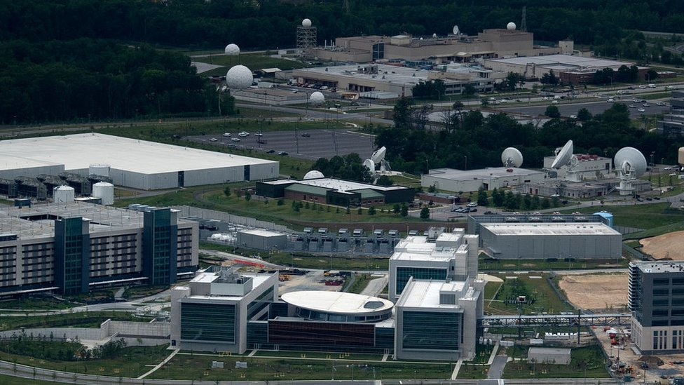 US Cyber Command joint operations center on the NSA campus is seen on May 25, 2020, in Fort Meade, Maryland