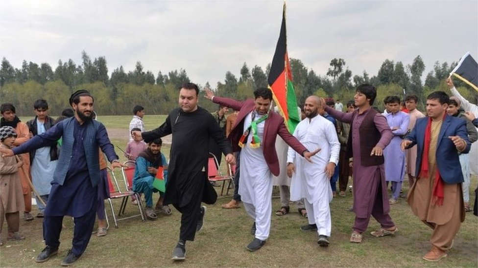 afghans celebrate ahead of agreement
