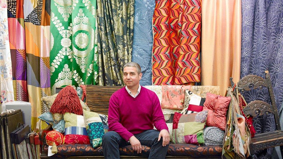 Neil Thomas at the Gainsborough Silk Weaving Company