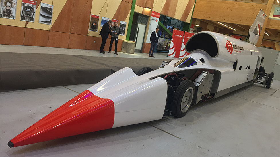 Bloodhound: Land speed record car is relaunched