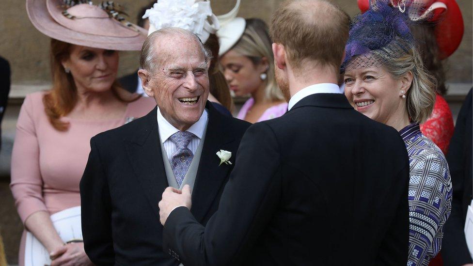 Vojvoda od Edinburga na venčanju Lejdi Gabrijele