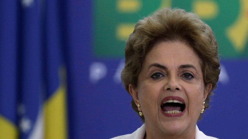 Dilma Rousseff in Brasilia (12 April 2016)