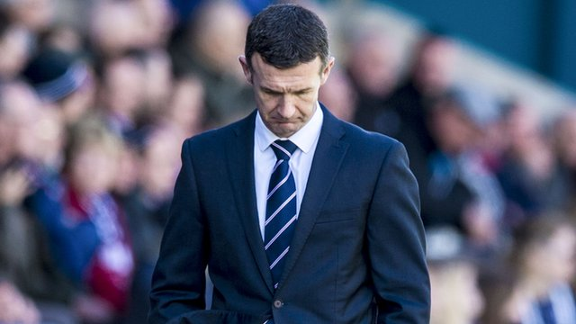 Jim McIntyre ponders the defeat to St Johnstone