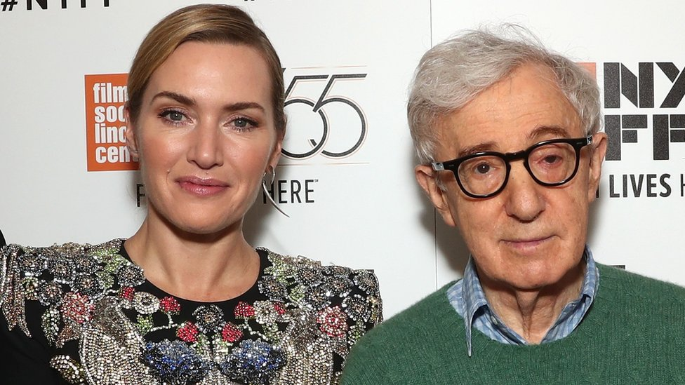 Kate Winslet with Woody Allen in 2017