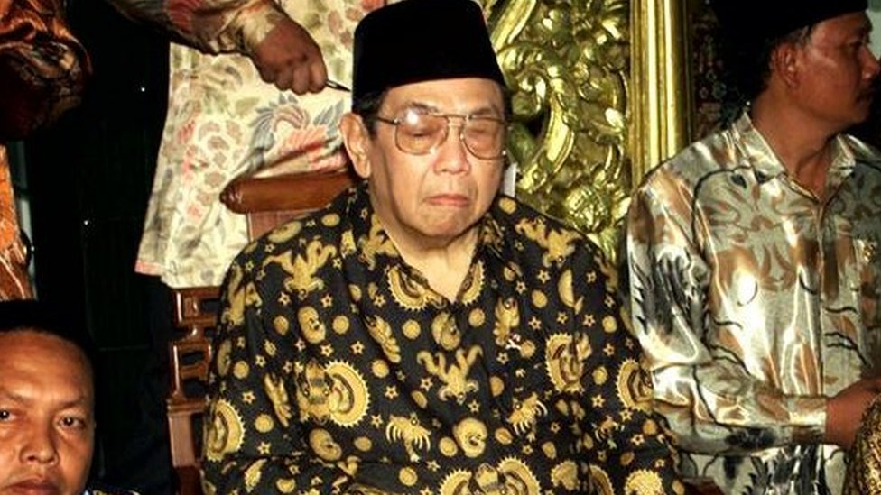 Indonesian President Abdurrahman Wahid in Pasuruan (February, 2001)