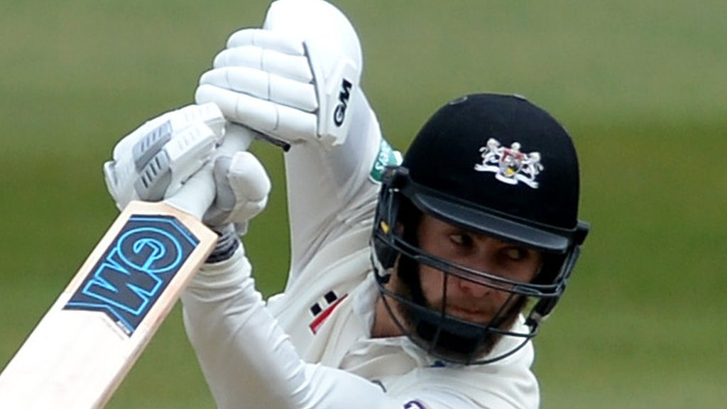 County Championship: Gloucestershire end day on top after Derbyshire crumble