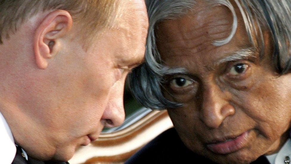 Putin with Abdul Kalam