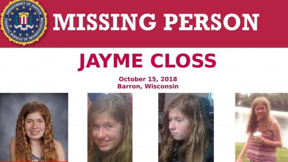 Afiche de la búsqueda de Jayme Closs