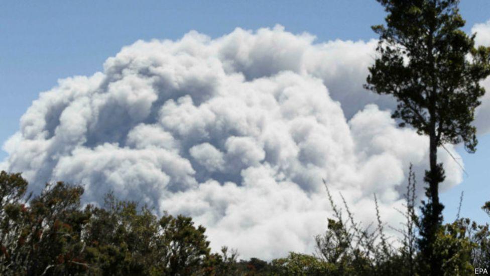 Nube de humo del volcán Turrialba.