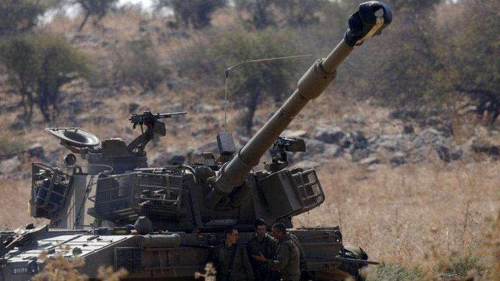 Israeli artillery deployed near the Israeli-Lebanon border. Photo: 1 September 2019
