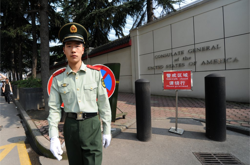 中美兩國互相關閉領事館,標誌著兩國關係進一步惡化(圖為美國駐成都總領事館)。