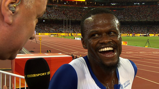 Rabah Yousif speaks to the BBC after making it through to the 400m final.