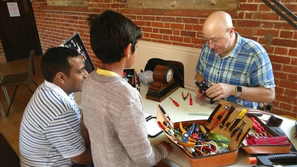 The Marlow Repair Café in action