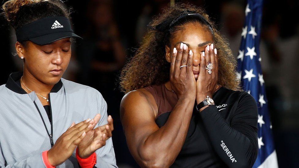 Naomi Osaka y Serena Williams