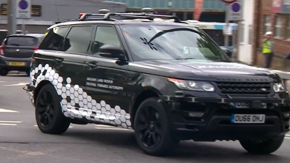 On the road in Coventry with a driverless car