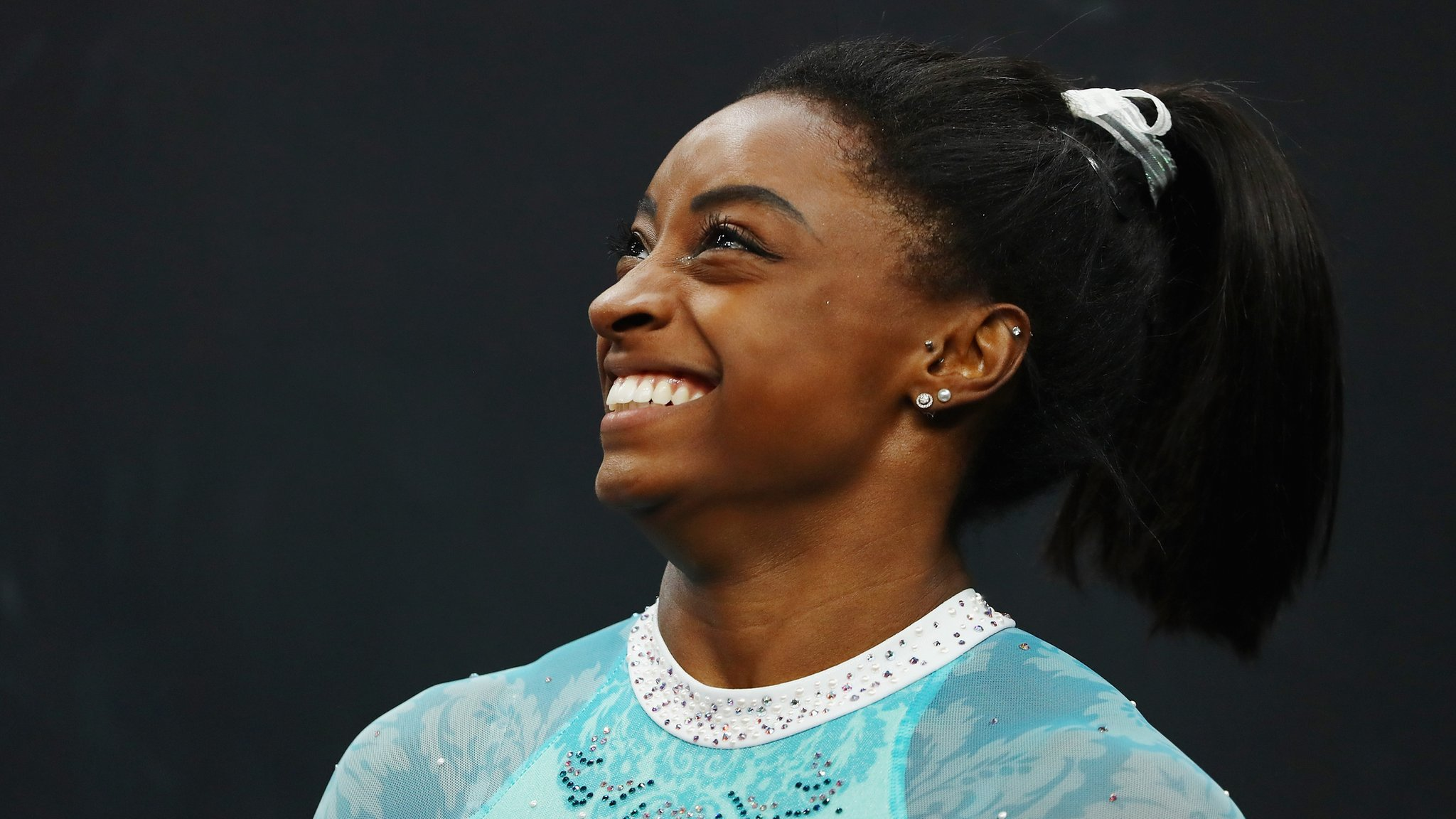 Biles wins record fifth title - wearing outfit to support sex abuse victims