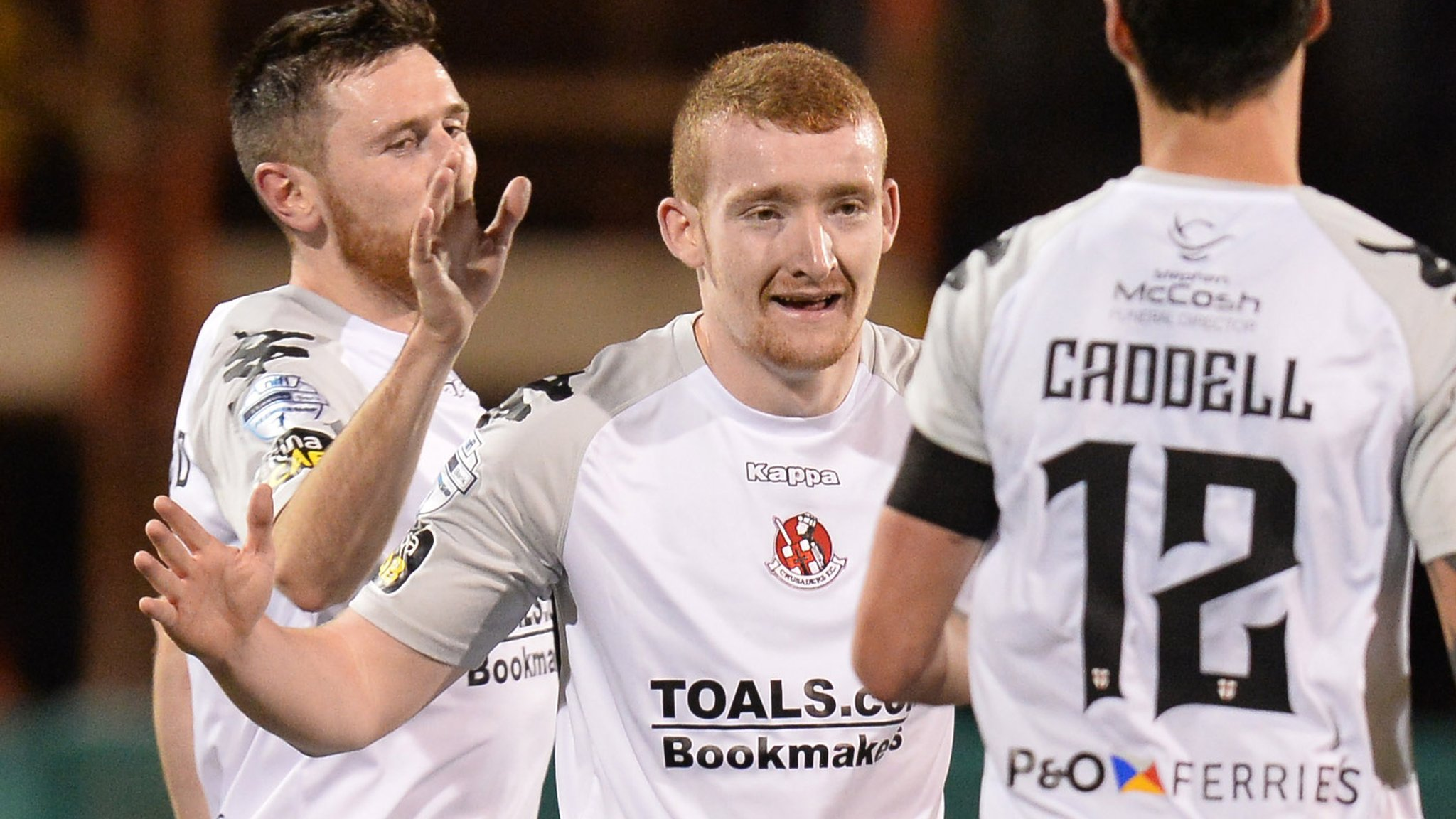 County Antrim Shield: Holders Crusaders set up quarter-final tie against Cliftonville
