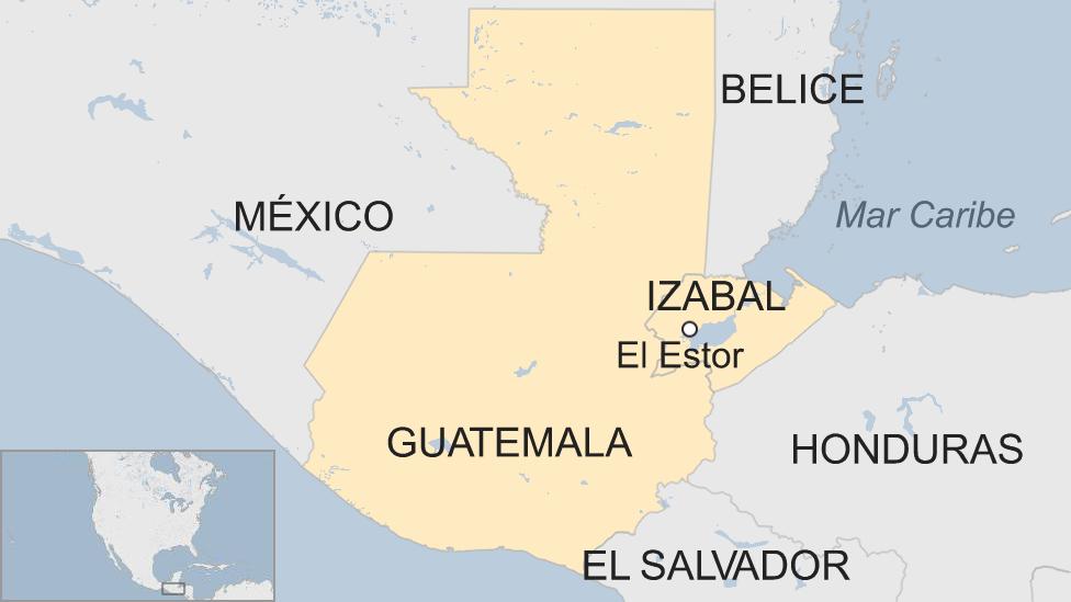 Mapa de El Estor