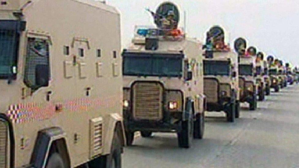 قوات درع الجزيرة تدخل البحرين