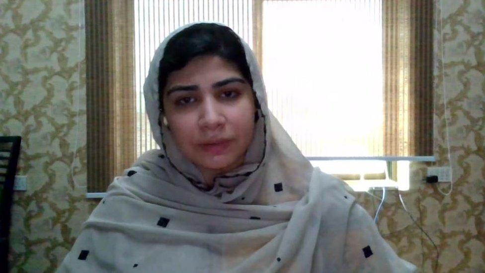 Pashtana Durrani speaking to the BBC