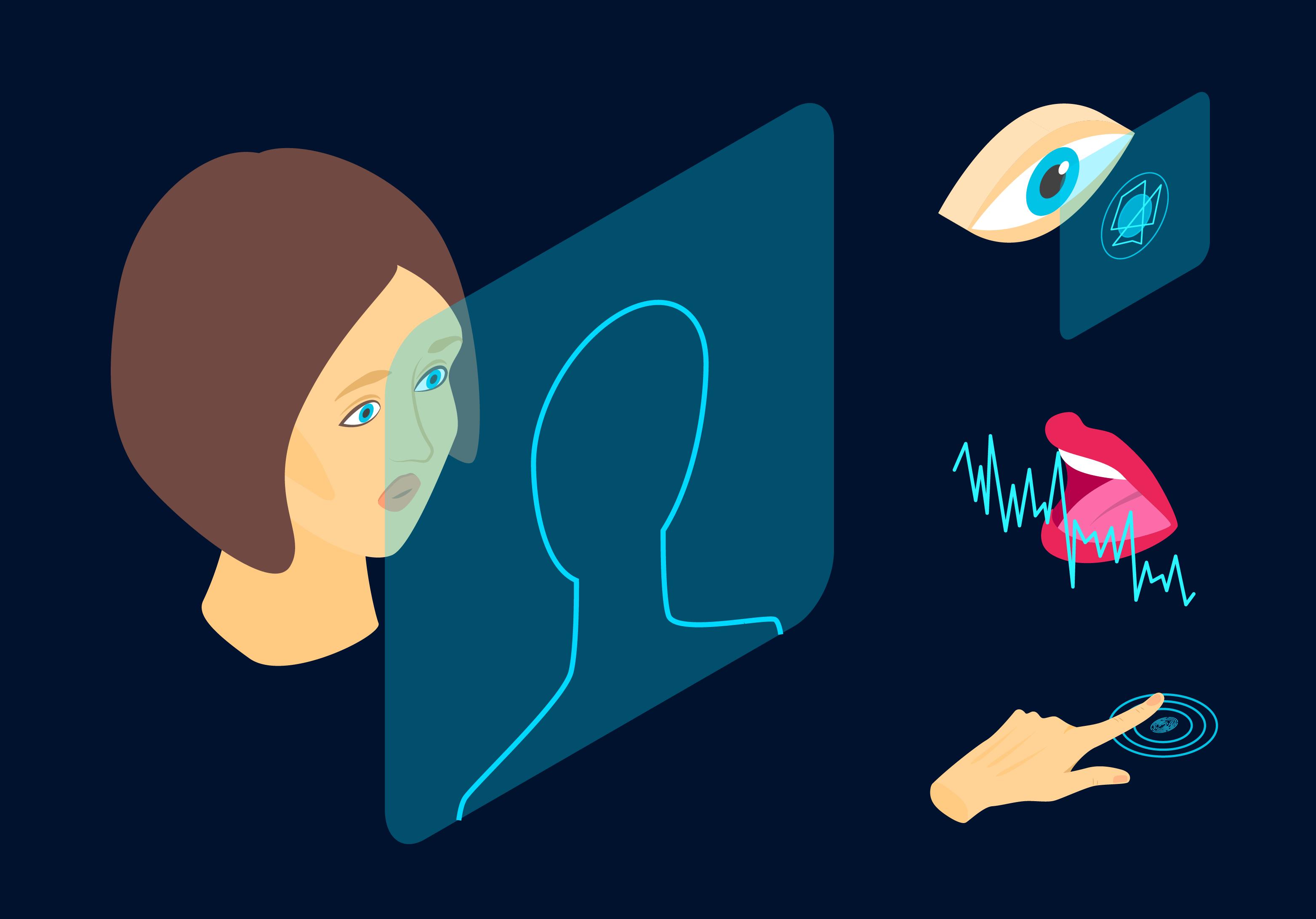 Ilustración isométrica de diferentes formas de comunicarse.