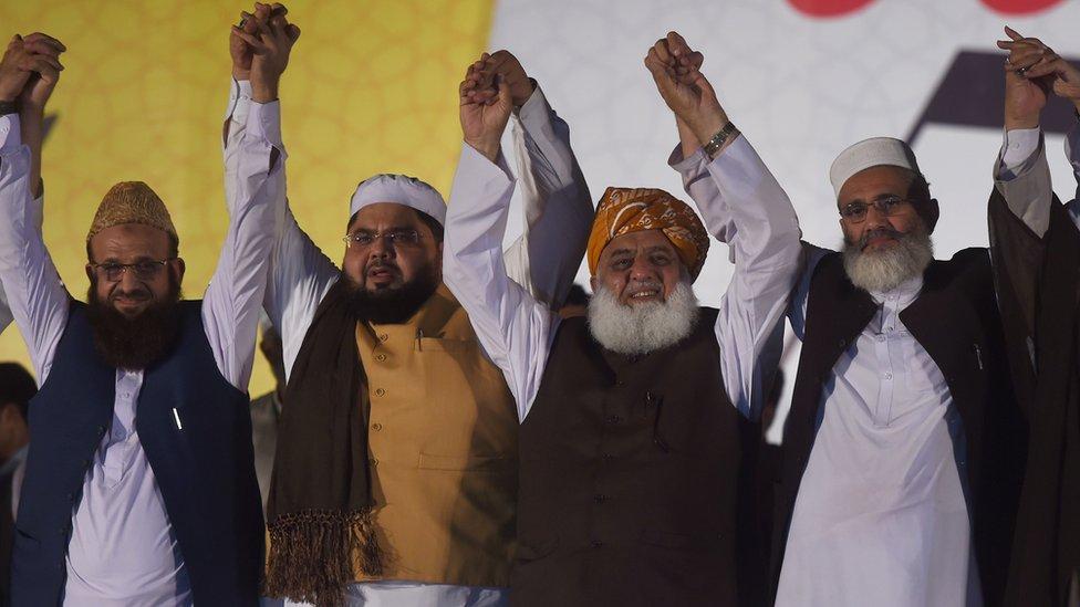 Leaders of Muttahida Majlis-e-Amal