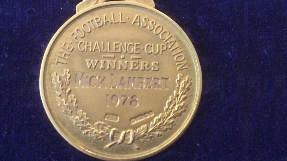 Ipswich Town's Mick Lambert finds 'stolen' FA Cup medal under bed