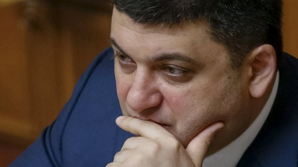 Ukrainian Parliament Speaker Volodymyr Groysman attends a parliament session in Kiev, Ukraine, March 29, 2016