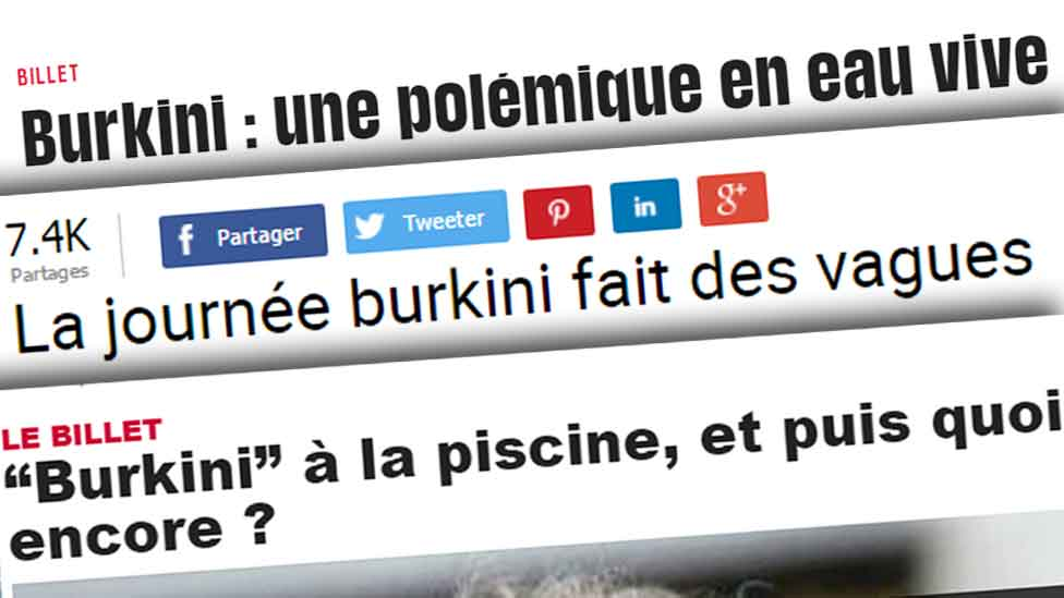 Headlines from French news websites