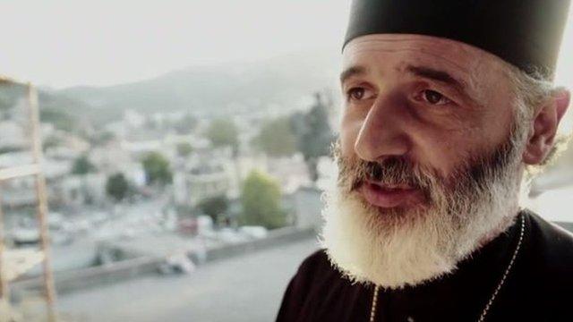 Andria Jaghmaidze, sacerdote de la iglesia ortodoxa georgiana.