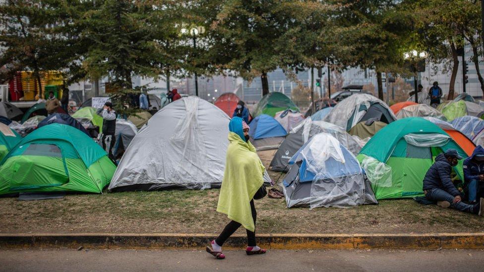 Migrantes latinos en Chile