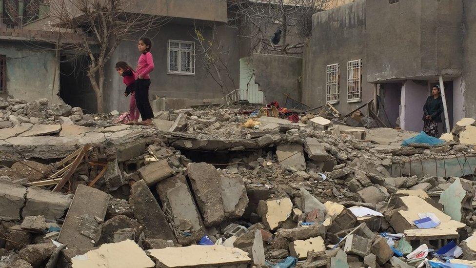 Destruction in Silopi