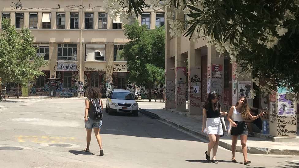 Students at the Polytechnic University of Athens