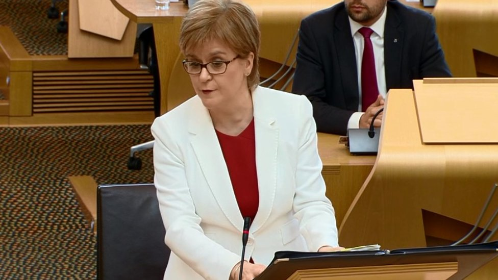 First minister Nicola Sturgeon announced a full review
