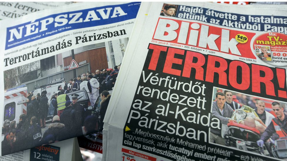Hungarian newspapers