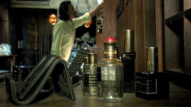 Johari Kazura in his perfumery