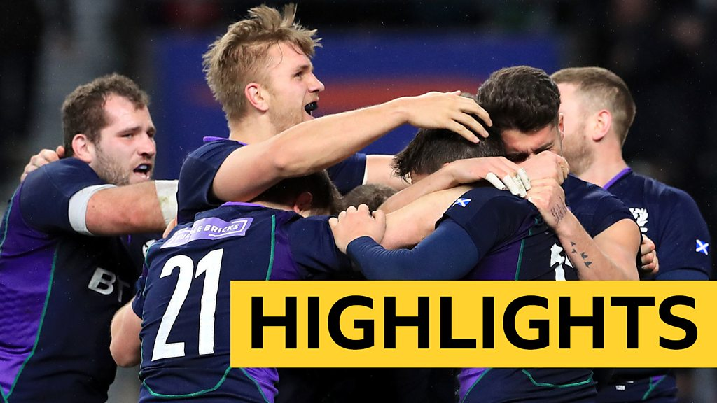 Six Nations 2019: England 38-38 Scotland highlights