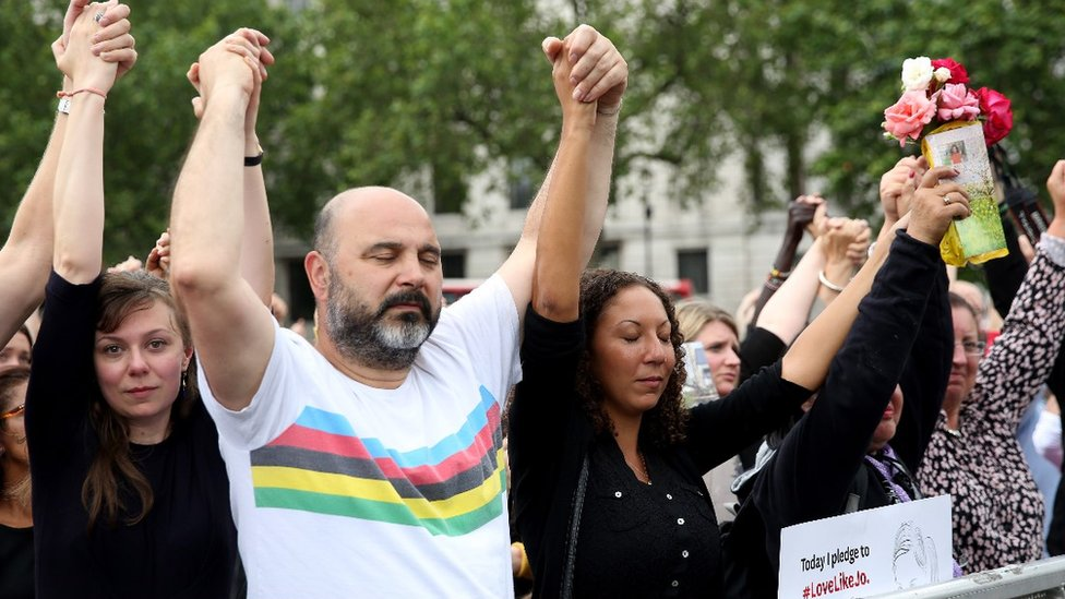 Jo Cox memorial event in London