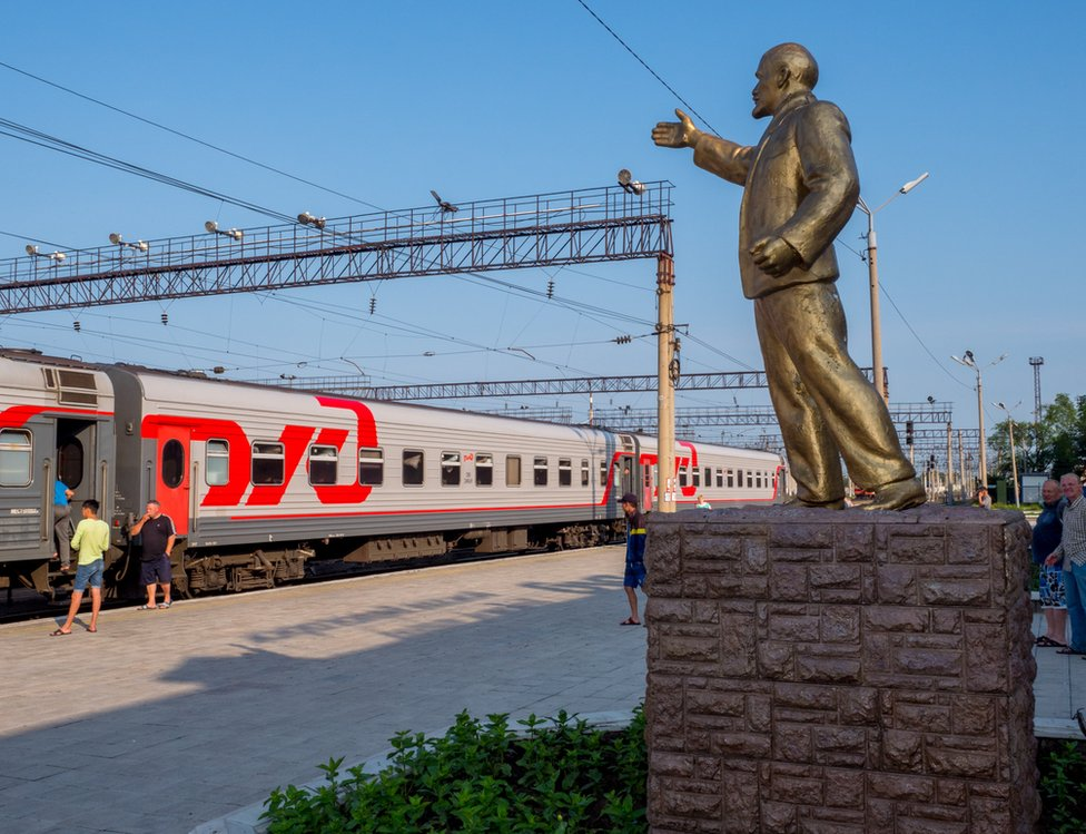 Statue of Lenin at Belogorsk, Amur Oblast in Russia