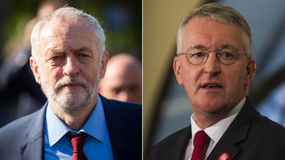 Jeremy Corbyn and Hilary Benn
