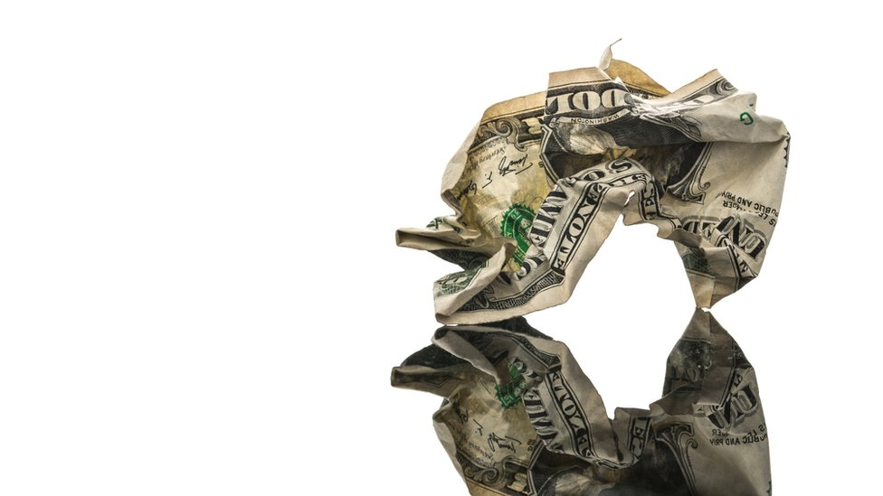 dólar arrugado
