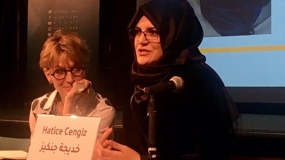 كالامار تحدثت في فعالية حضرتها خديجة جنكيز خطيبة خاشقجي
