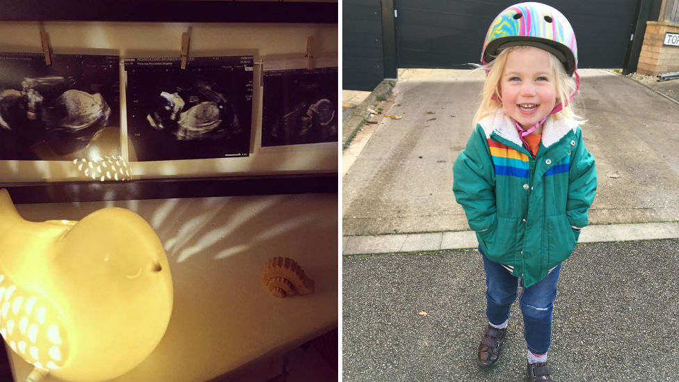 Little Bird lamp, baby scans and Frankie Brunker's daughter Ayla