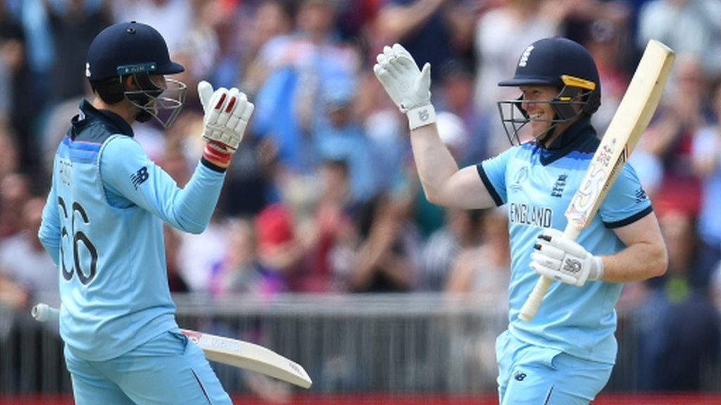 Cricket World Cup: Eoin Morgan's record-breaking hundred and #PrayforRichard