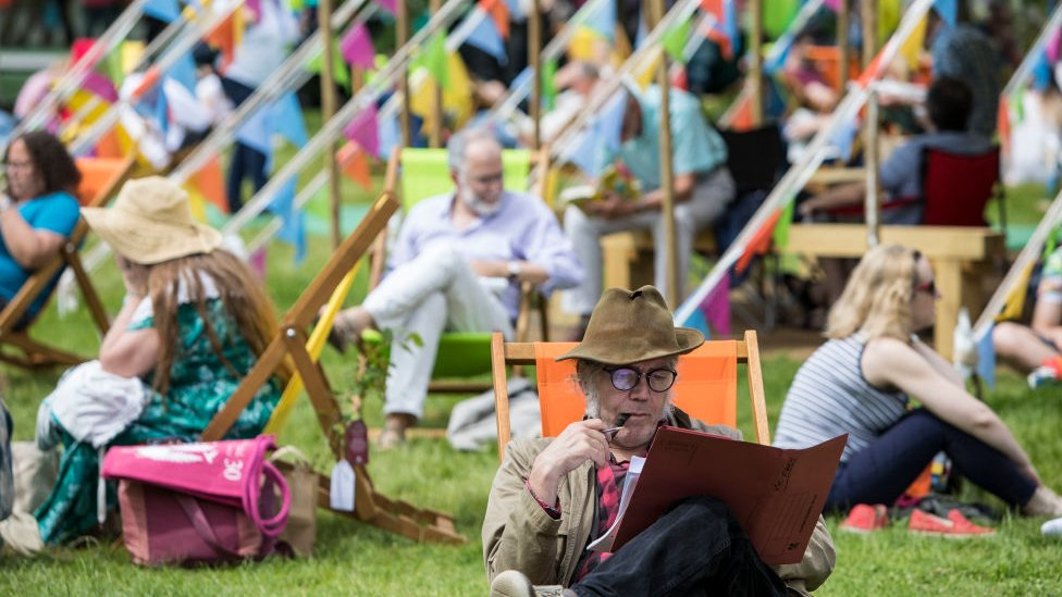 Hay Festival crowds in 2017