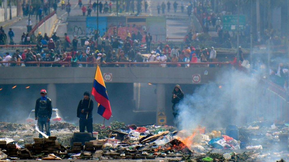 Protestas en Ecuador en 2013.
