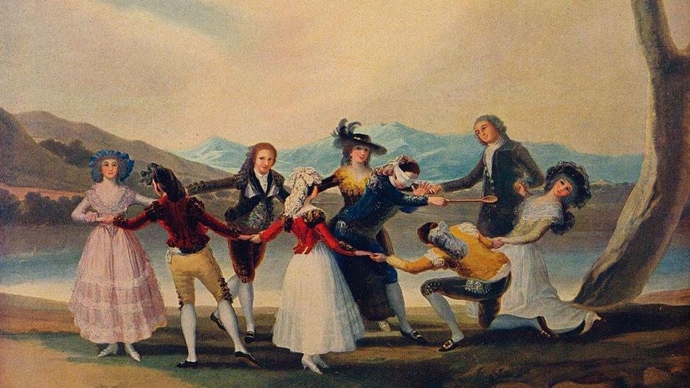 """""""La gallina ciega"""", cuadro de Francisco de Goya"""