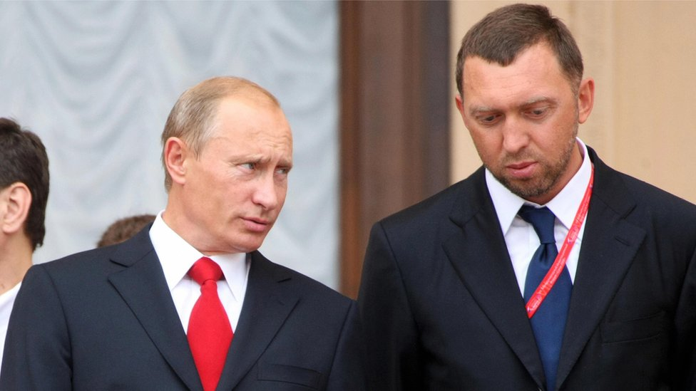 Vladimir Putin y Oleg Deripaska.