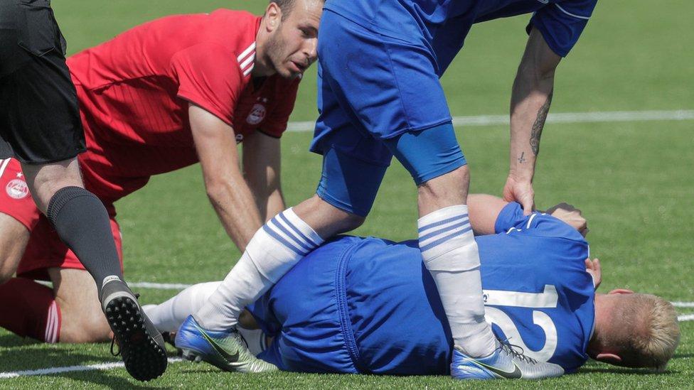 Injured Cove footballer Jordon Brown thanks medics and fans